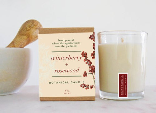 Winterberry + Rosewood Soy Candle