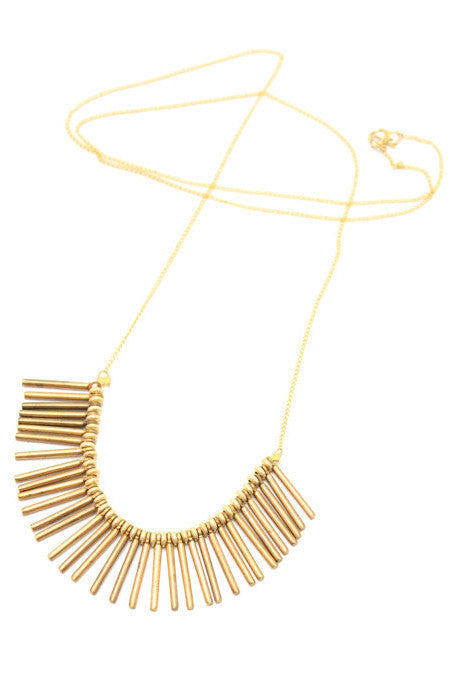 Bronze Crete Fringe Necklace