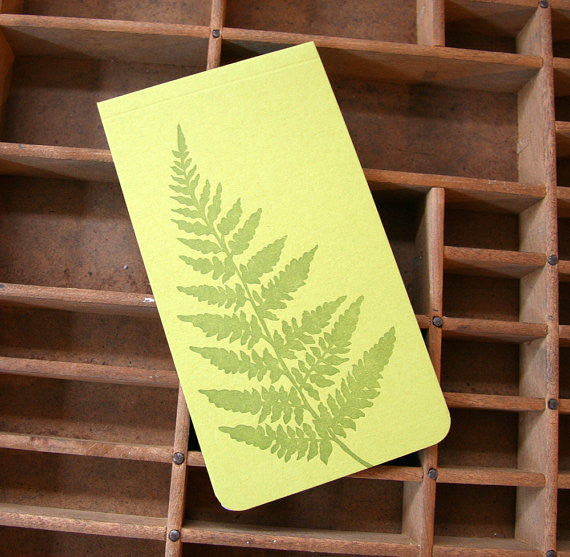 Fern Letterpress Notebook