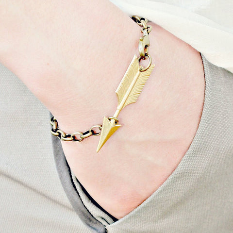 Golden Arrow Chunky Chain Bracelet