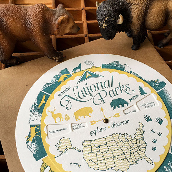 Letterpress National Parks Spinner