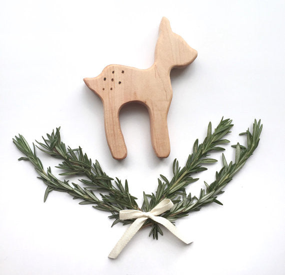 Baby Deer Wooden Teether