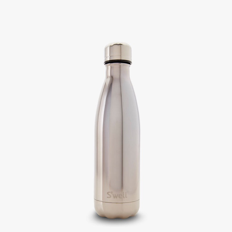 Hot + Cold Water Bottle, White Gold