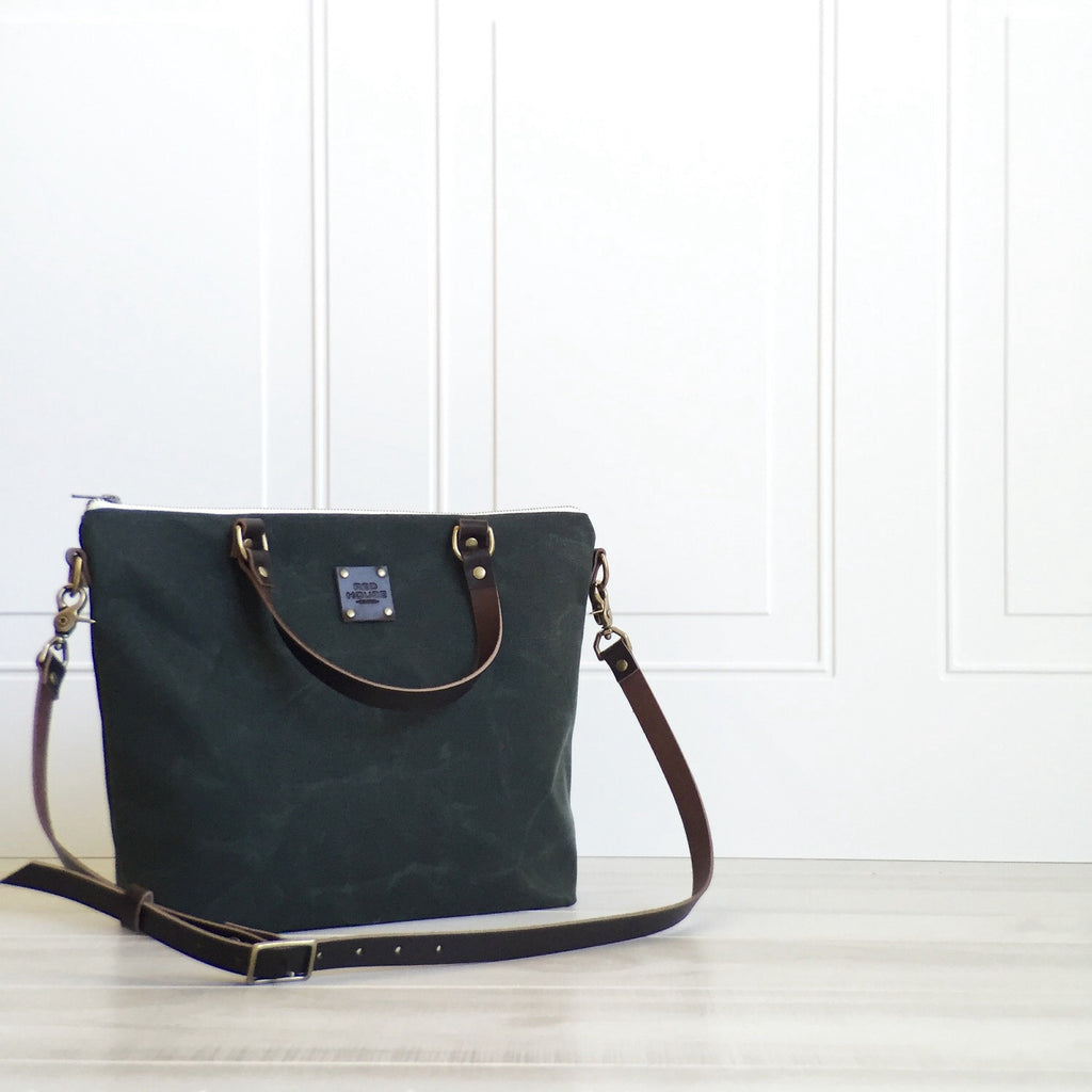 Waxed Canvas Cross Body Day Bag :: Assorted Colors
