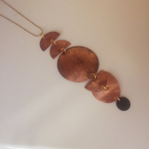 Copper Eclipse Necklace