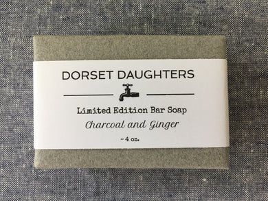 Charcoal and Ginger Bar Soap. Limited Edition.