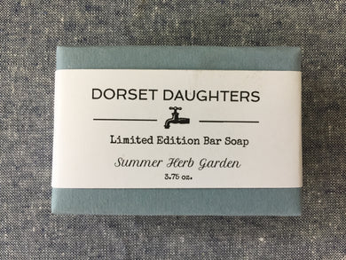Summer Herb Garden Bar Soap. Limited Edition.