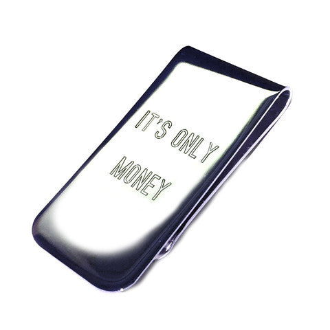 It's Only Money. Sterling Silver Plated Money Clip