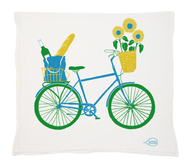 Picnic Bike Tea Towel