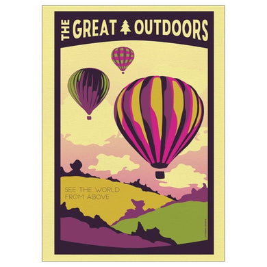 See the World From Above Postcard  | Great Outdoors series