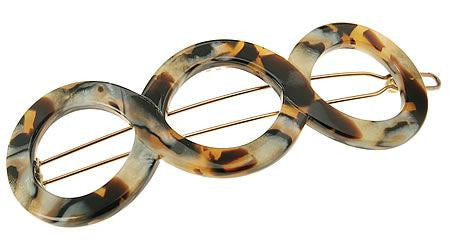 Triple Circle Tige Boule Barrette :: assorted designs