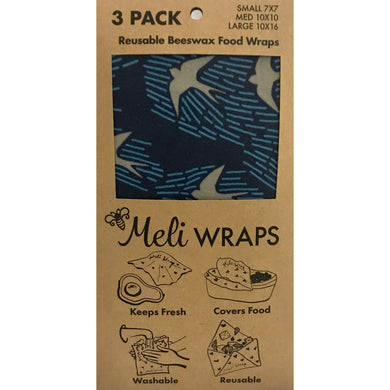 Beeswax Meli Food Wraps Navy Manu