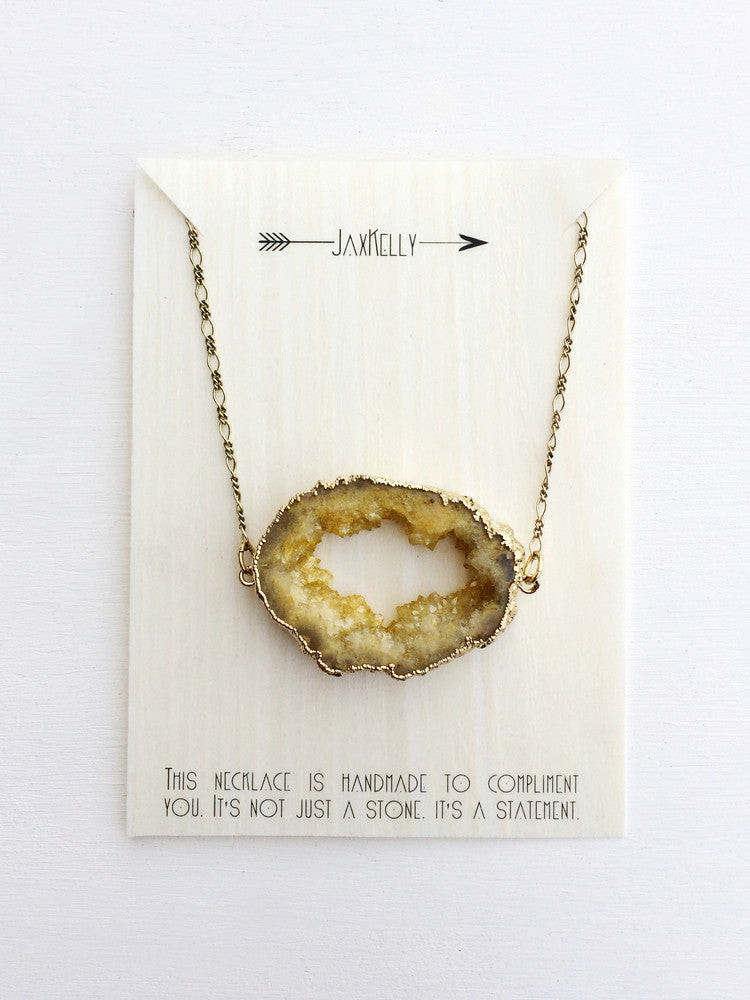 Mustard Druzy Necklace