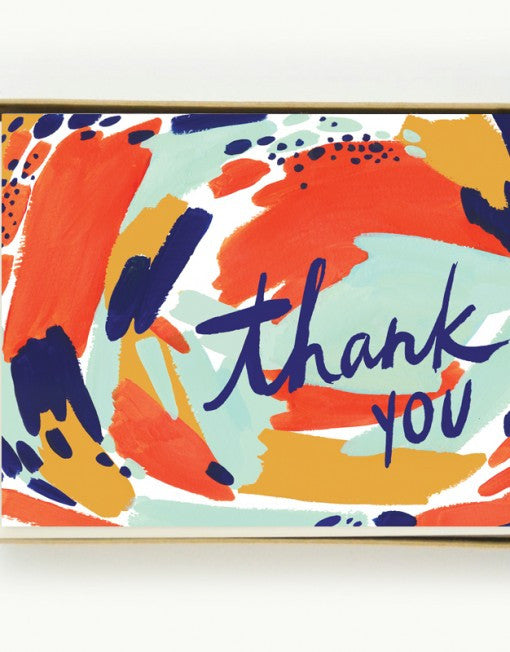 Painterly Thank You Notecards