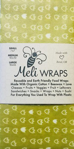 Beeswax Meli Food Wraps Olive Tulip