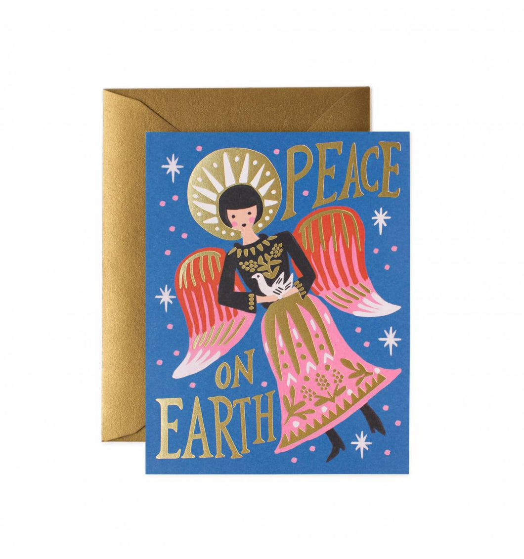 Peace on Earth Angel Greeting Card Boxed Set of 8