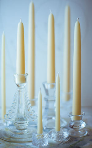 "Beeswax 10"" Taper Candles (pair)"