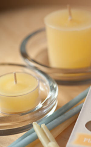 Natural Beeswax Votive
