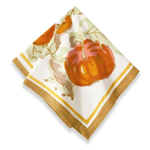 Pumpkin Napkins Orange/Mustard, Set of 6