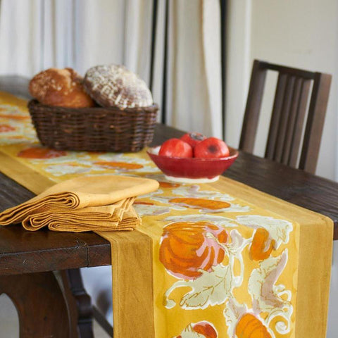Pumpkin Table Runner, Orange/Mustard