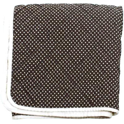 Quilted Canvas Throw Brown Swiss Dot