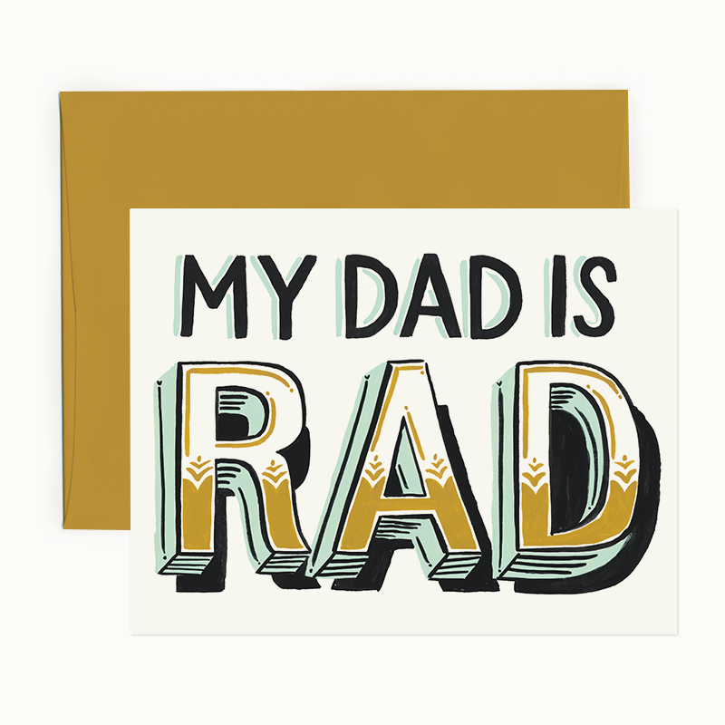 My Dad is Rad Card