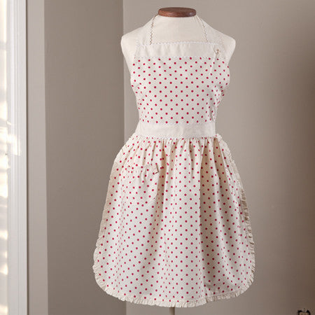 Red Polka Dot Apron, Child or Adult