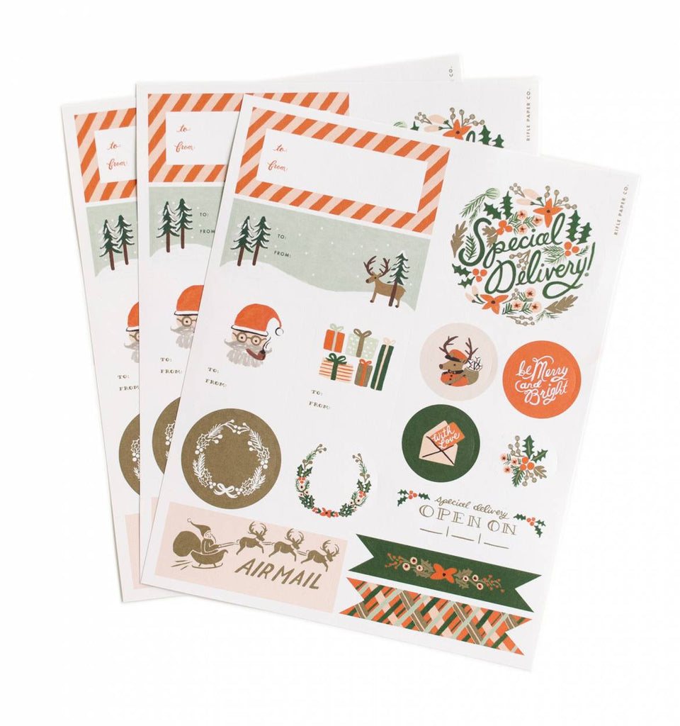 Holiday Stickers + Labels