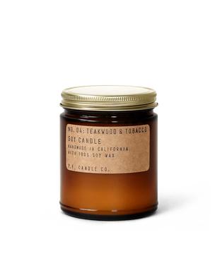 P.F. Candle Co. - No. 04 Teakwood and Tobacco Candle