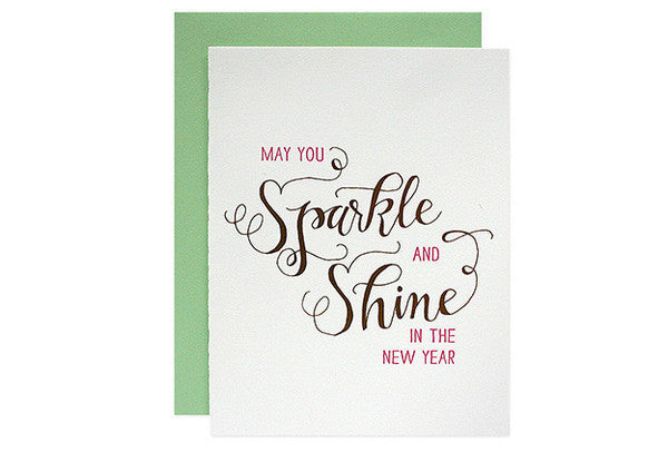 Sparkle + Shine New Year's Card