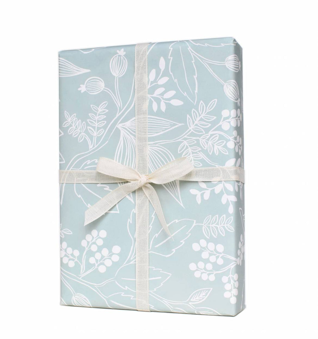 Spearmint Blossoms Gift Wrap