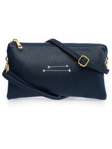 Cross Body Bag + Wristlet, Vegan