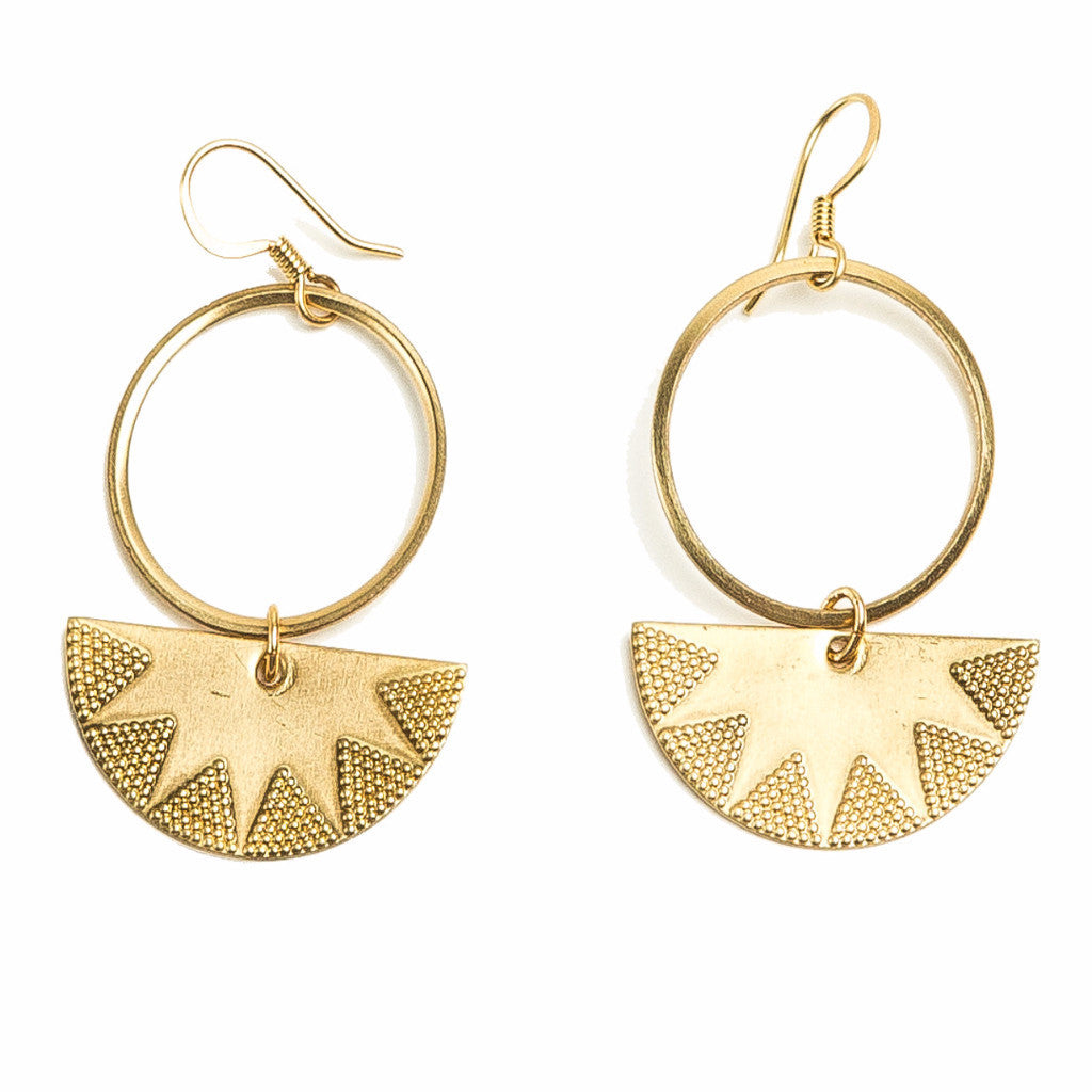 Tribal Crescent Earrings