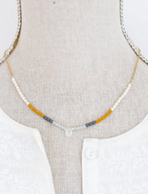 Dainty Moonstone Necklace Grey