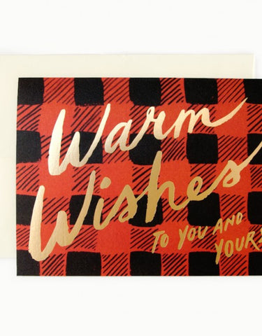 Buffalo Plaid Warm Wishes