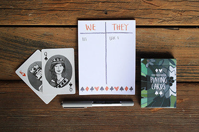 Score Notepad and Playing Cards