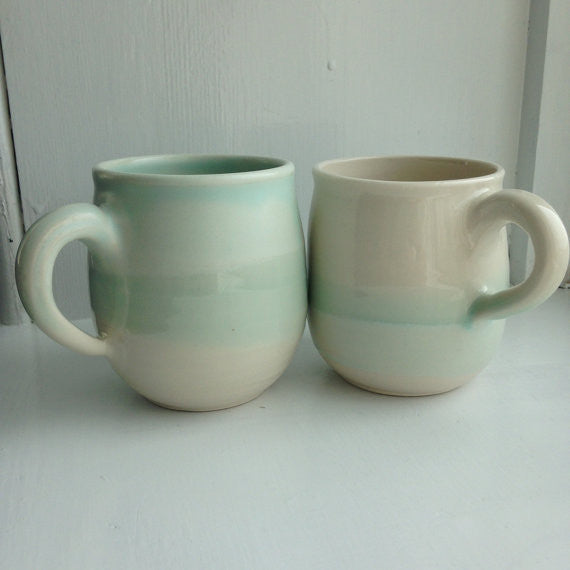 Porcelain Mugs, Set of 2