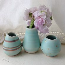 Porcelain Bud Vases, Set of 3 :: ivory or seafoam
