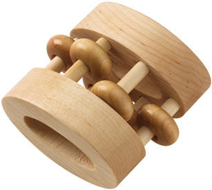 Unfinished Oval Wooden Rattle