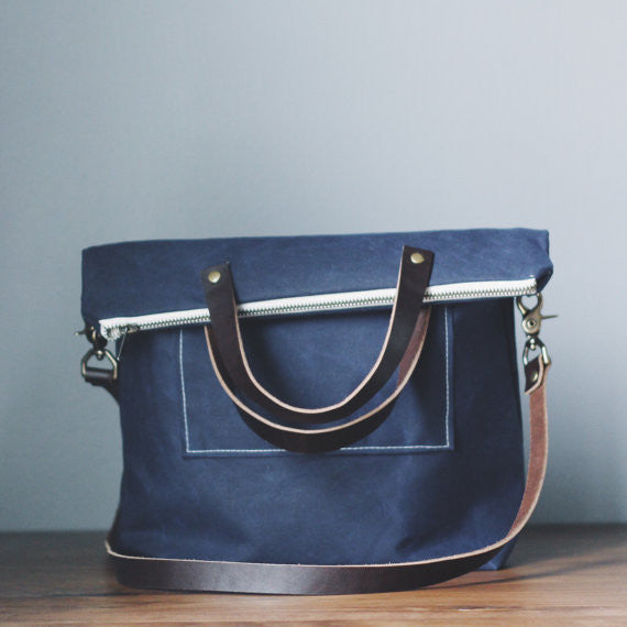 The Georgetown : A Waxed Canvas Book Bag :: assorted colors