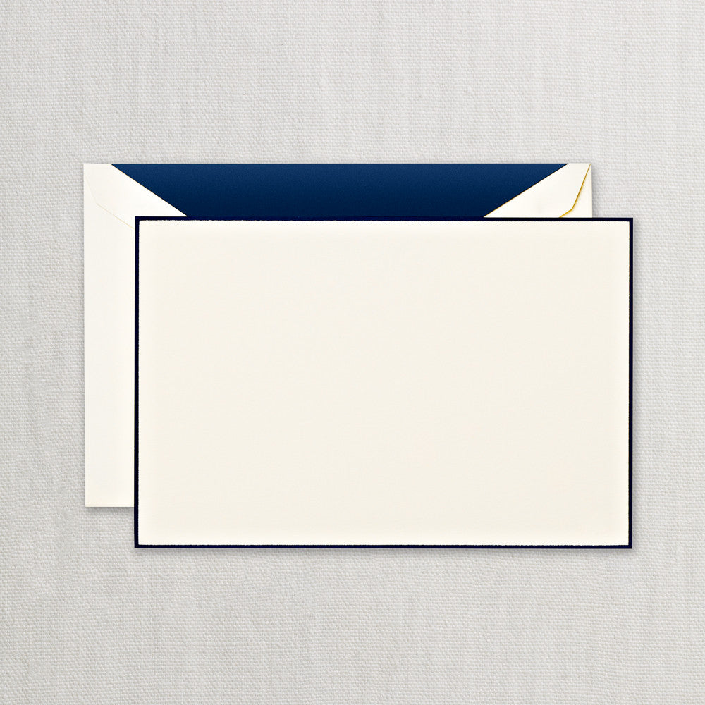 Navy Bordered Ecruwhite Correspondence Card