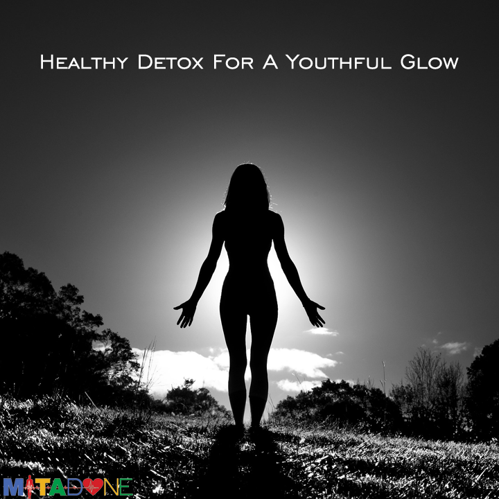 "Healthy Detox For A Youthful Glow  Forget all those fad detox plans. When it comes to a detox, you simply need to replenish your body with electrolytes and cell repair. As you grow older your body simply deteriorates. Scientifically, cells in your body decay. The cells that make up your body simply change over time, and the best way to put them through a healthy detox is with one killer supplement.  Why Choose Detox Supplements?  A simply cleanse does not help regenerate cells. Those crazy lemon and hot sauce cleanses simply starve you to death, and juice cleanses simply cleanse your bowels. A detox supplement not only strengthens vital organs, ""it can help you to keep your mind clear so that you function at a higher efficiency rate. It is helpful to think of it as a digestive aid for the mind, while the body uses it as a processing detoxification protocol.""  Detox For A Youthful Glow No matter what your age, this is also an important step in any anti-aging routine. Why? Because it will not only reduce fine lines, wrinkles, pesky crow's feet, discoloration & age spots--your hair will come in more supple and shiny, your nails will become less brittle and frail, and you'll start to simply ""feel better"".  The 5 Day Detox Our 5 Day Detox can help you get started. We started Mitadone to help people. Not only on a personal level, but those around us as we attempt to change our lives for the better. Mitadone 5 Day Detox is a natural product designed to help you turn your life around. Mitadone helps you flush impurities and toxins with the aid of natural diuretics like dandelion root, juniper berry and uva ursi, so you can naturally replenish your body and mind for a more healthy, glowing you!"