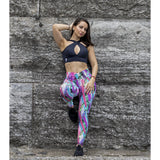 *NEW* Tropical Fever Ruffle Waist Leggings