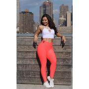 *High Waist Brazilian Crunch in Strawberry Color