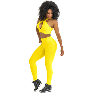 *High Waist Brazilian Crunch in Sunflower Color