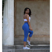 *NEW* The Brazilian Crunch V Waist CAPRIS- Royal Blue