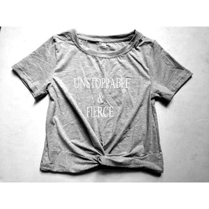 """Unstoppable & Fierce"" Crop Top"