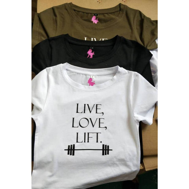 """LIVE LOVE LIFT"" Crop Top"