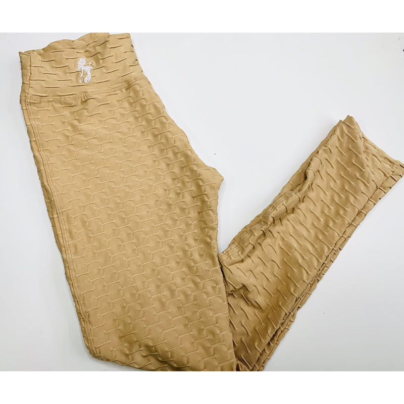 *High Waist Brazilian Crunch Leggings in Champaigne