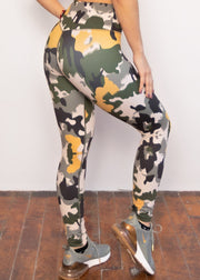 *NEW & LIMITED The Mustard Camo High Waist Leggings